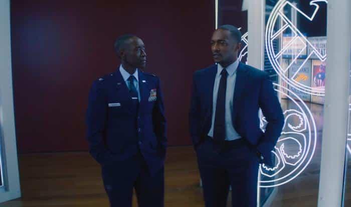 cameo de James Rhodes en Falcon y el soldado de invierno