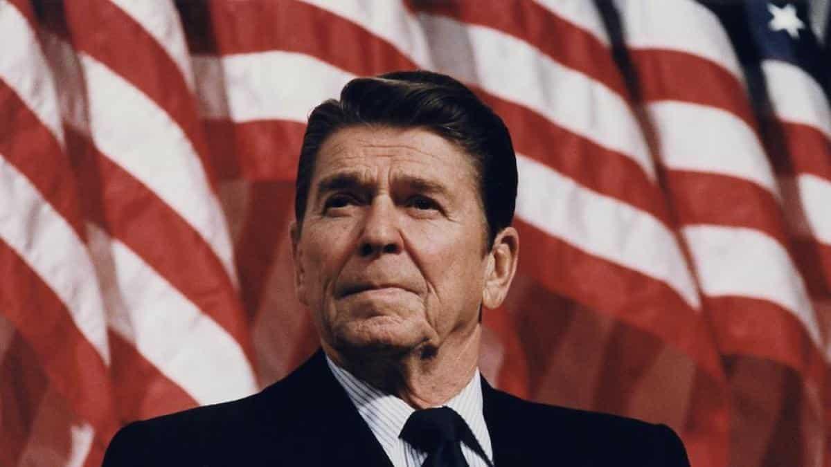 Ronald Reagan fue presidente de los Estados Unidos, puesto por el que iría 'The Rock'