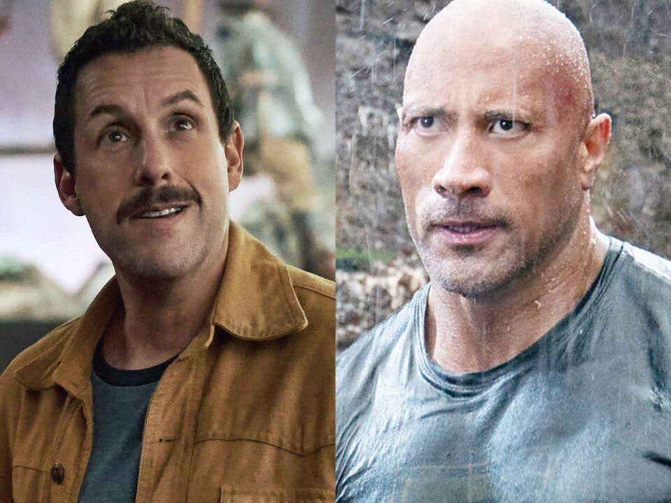 Adam Sandler and Dwayne Johnson