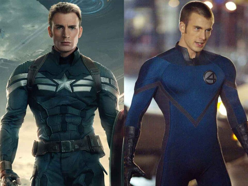 Chris Evans holds the absolute record for playing comic book characters