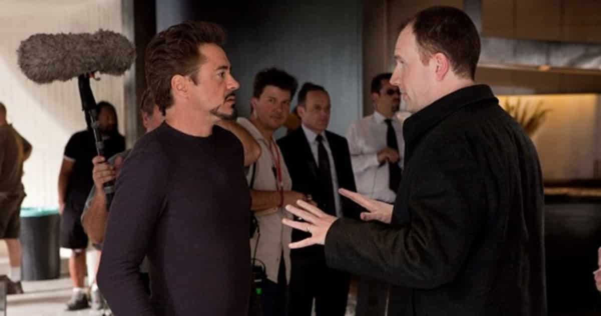 Kevin Feige, productor y Robert Downey Jr., actor