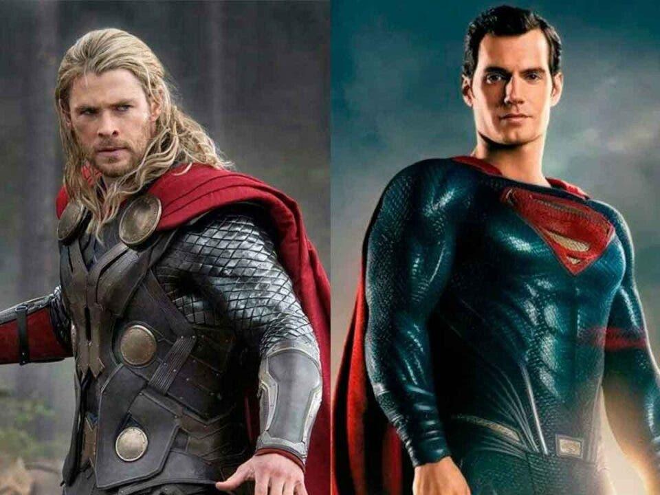 Henry Cavill y Chris Hemsworth pelean por el mismo papel