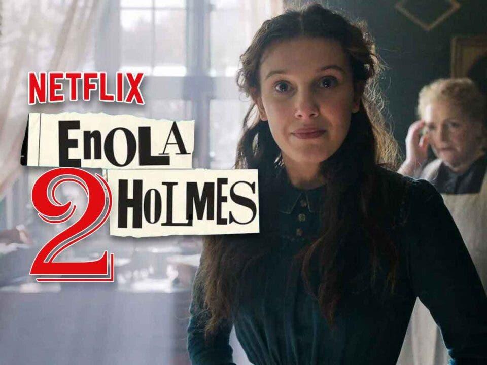 Millie Bobby Brown emocionada Enola Holmes 2