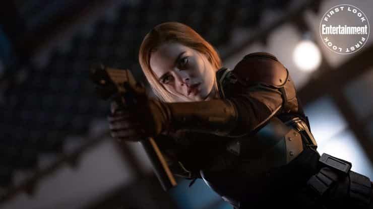 Samara Weaving as Scarlett in Snake Eyes Movie