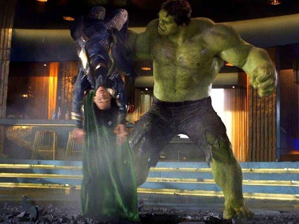 Así se rodó la paliza que le dio Hulk a Loki en Los Vengadores (2012)