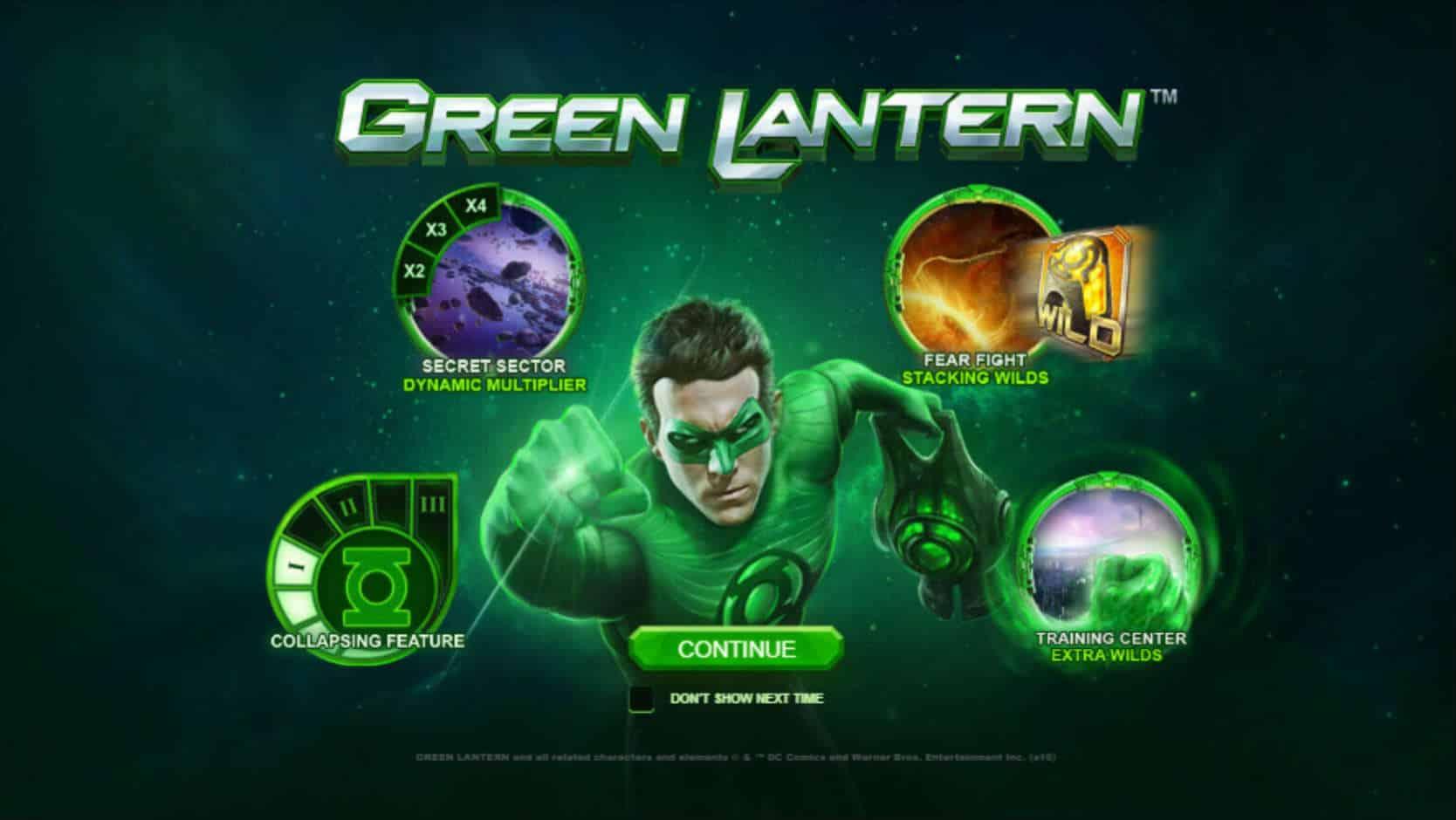 Green Lantern Slot - Playtech