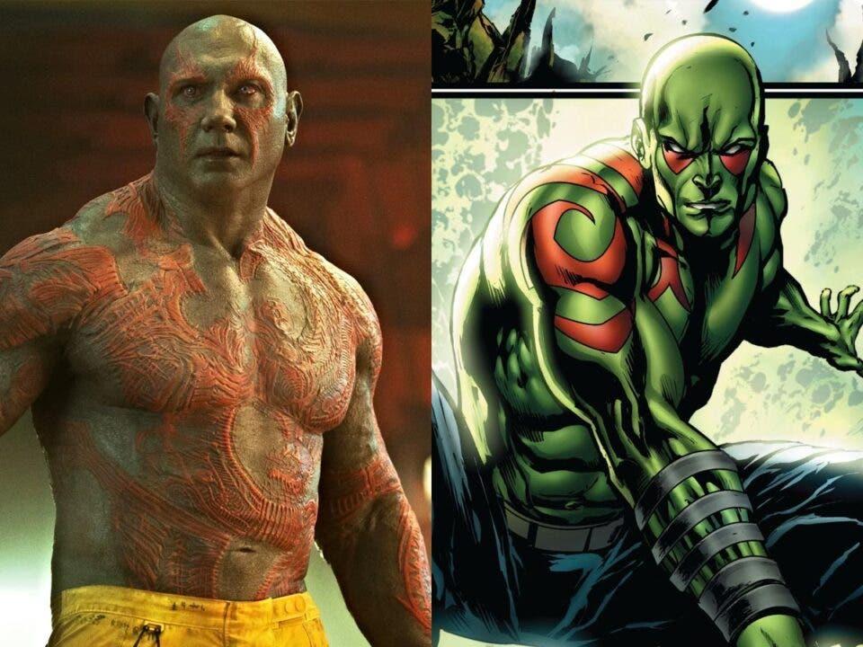 Motivo real por el que Drax de Guardianes de la Galaxia no es verde