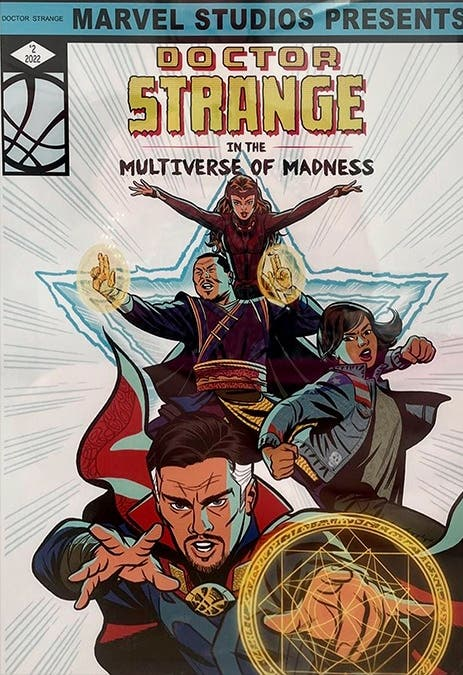Primer arte oficial de Doctor Strange 2 revela grandes detalles