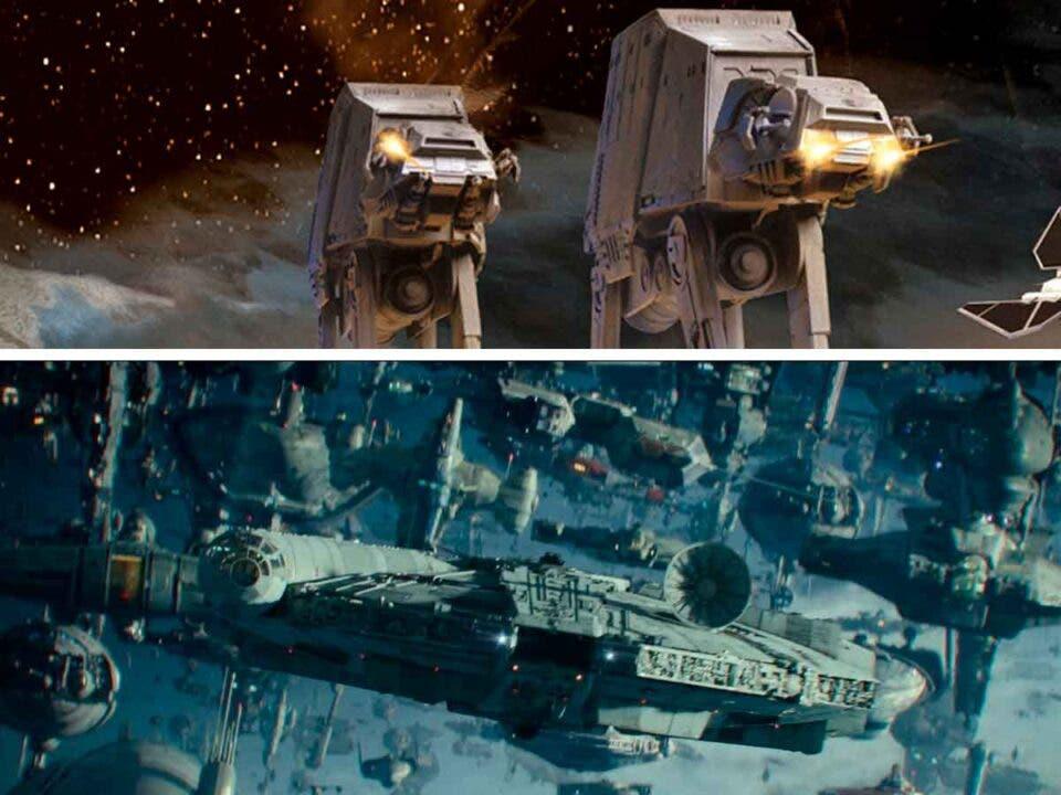 naves y vehículos de star wars
