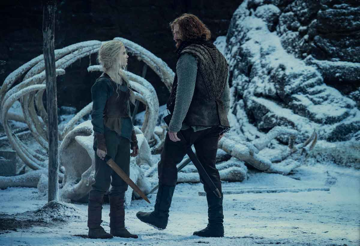Primera imagen de Cirrilla y Lambert juntos en Kaer Morhen
