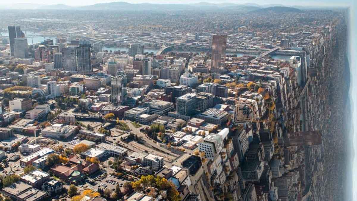 Espectaculares imágenes de ciudades famosas dobladas