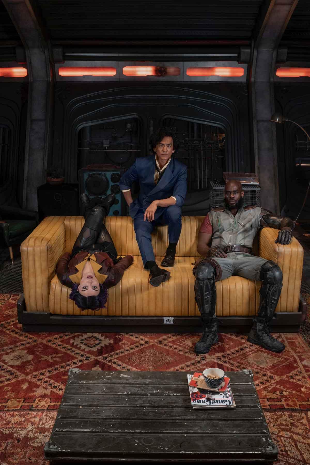 John Cho (Star Trek), Mustafa Shakir (Luke Cage) y Daniella Pineda (Jurassic World: El reino caído)