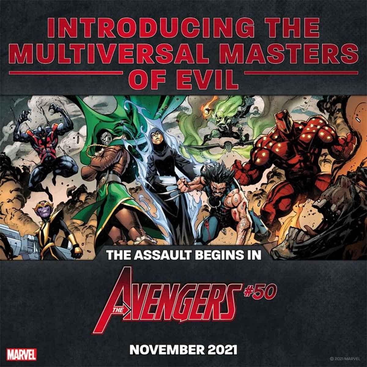Los Vengadores lucharán contra los Maestros Multiversales del Mal
