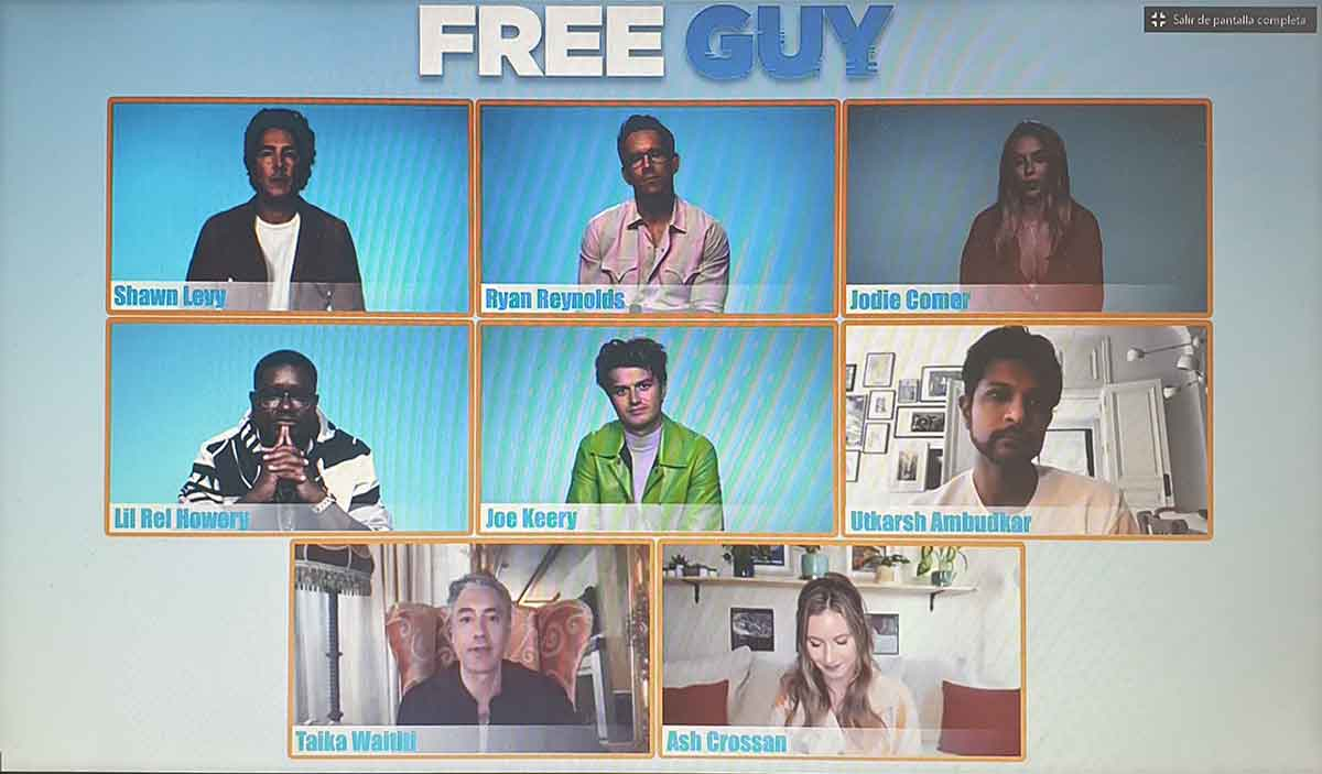 Rueda de prensa de Free Guy