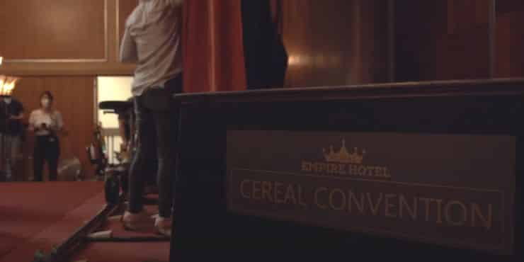 The Sandman Cereal Convention Signage