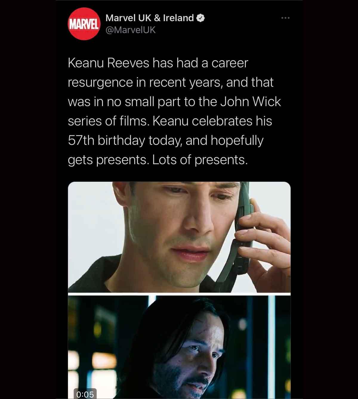Marvel hace enloquecer a los fans con Keanu Reeves