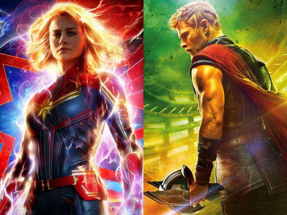 Marvel Studios Thor y Capitana Marvel