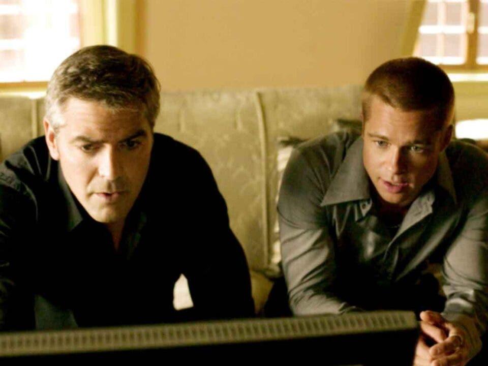 película George Clooney y Brad Pitt
