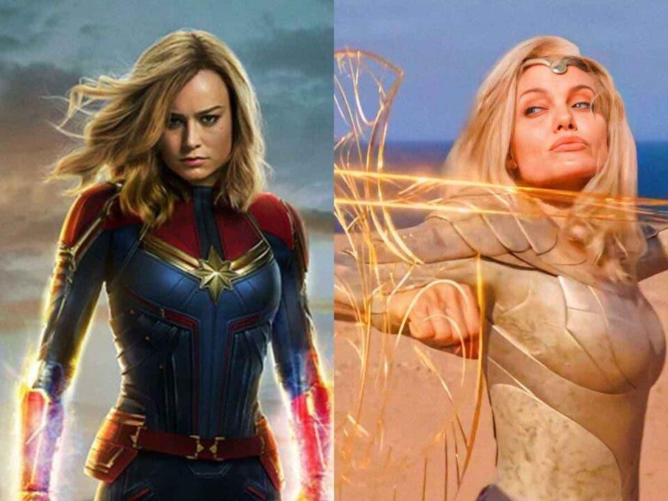 Capitana Marvel de Brie Larson vs Thena de Angelina Jolie